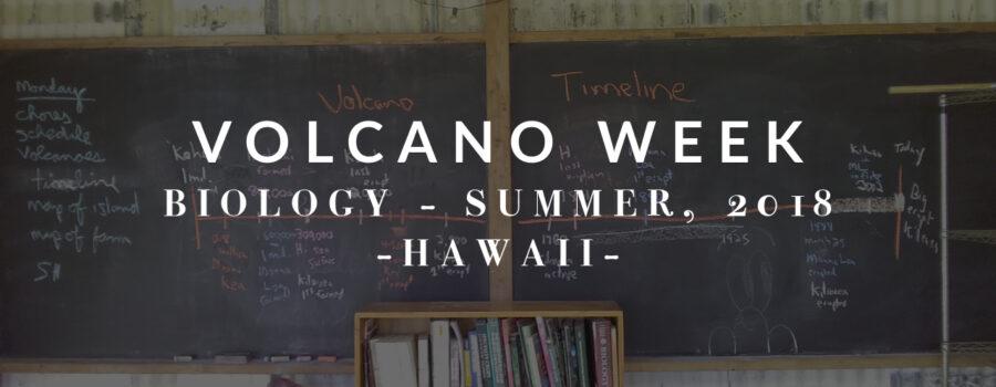 Biology: Volcano Week