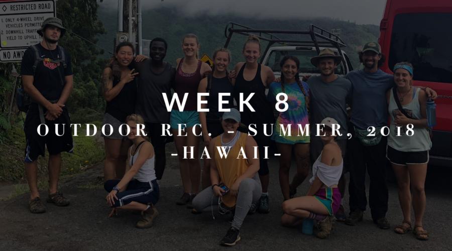Outdoor Recreation: Week 8